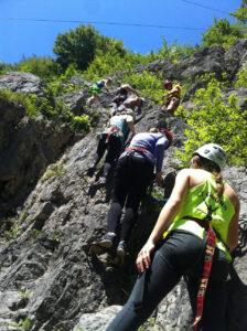"""""""Höhenangst verboten"""" am Klettersteig in Obertraun"""